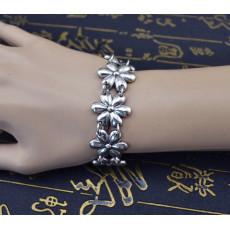 B-0566 Bohemian Vintage Silver Plated Coin Tassel Snowflake Shape Pendant Chain Bracelet Bangle Jewelry For Womens