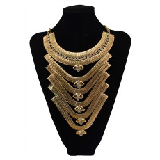 N-5729 New Fashion Brand Charm Crystal Rhinestone Flower Necklaces & Pendants Statement Necklaces Multi Layer Necklace Gold Chain Jewelry For Women