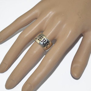 R-1247 New Fashion Casual Sterling Silver Alloy Finger Ring for Women