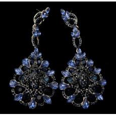 E-3562 New European Women Fashion Jewelry Luxury Crystal Long Dangling Earrings