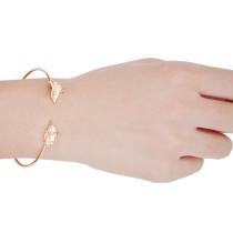 B-0582 New Arrived European Fashion Popular Silver Gold  Plated Leaf Open Bracelet