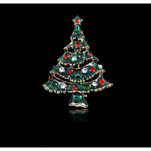 P-0194 Christmas Tree Gifts for Men and Women Fashion Classic Corsage Brooch Pin