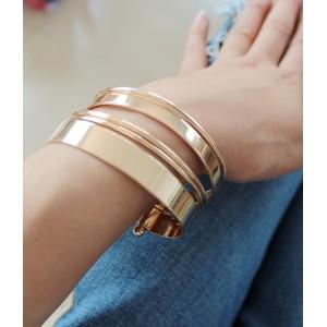 B-0586 European Fashion Style 5pcs gold plated circular arc Open bangle Bracelet
