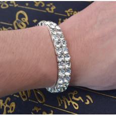 B-0593 New Arrival European Fashion Silver Plated Crystal Adjustable Bracelet