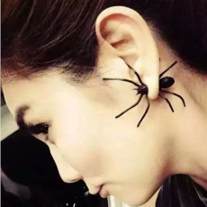E-3613  1 PC New Fashion European Style Black Spider Stud Earrings For Women