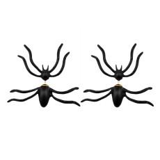 E-3612 1 Pair New Fashion European Style Black Spider Stud Earrings For Women