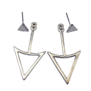E-3624  New fashion Korea style silver/gold plated triangle shape charm stud earrings for women