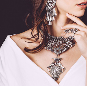 N-5860 Bohemian Gipsy Style Fashion Women Fine Jewelry Luxury Crystal Flower Bib Collar Statement Necklace And Earrings Set