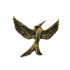P-0202  Fashion Vintage Antique Bronze The Hunger Games Bird Brooches Alloy Inspired Brooch Pins for Women&Men