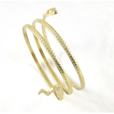 B-0625 2015 New Fashion Punk Coiled Snake Spiral Upper Arm Cuff Bangle Bracelet Twisted Wire Bangles for Men &Women