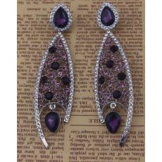E-3627 Fashion luxury wedding bridal earrings rhinestone crystal drop flower pendant dangling earrings brincos for women jewelry
