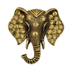 P-0207  2015 Fashion Summer Jewelry Vintage Gold Silver Plated Crystal Rhinestone Big Elephant Wedding Brooches Pins Jewelry For Women