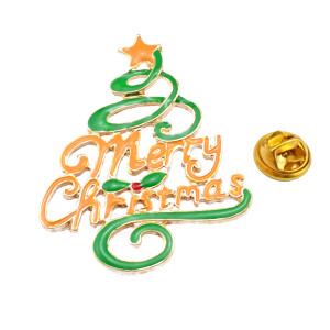 P-0206  Christmas Tree Brooch Christmas Ornaments Gifts Beautiful Tree Brooch Pins Jewelry Gifts