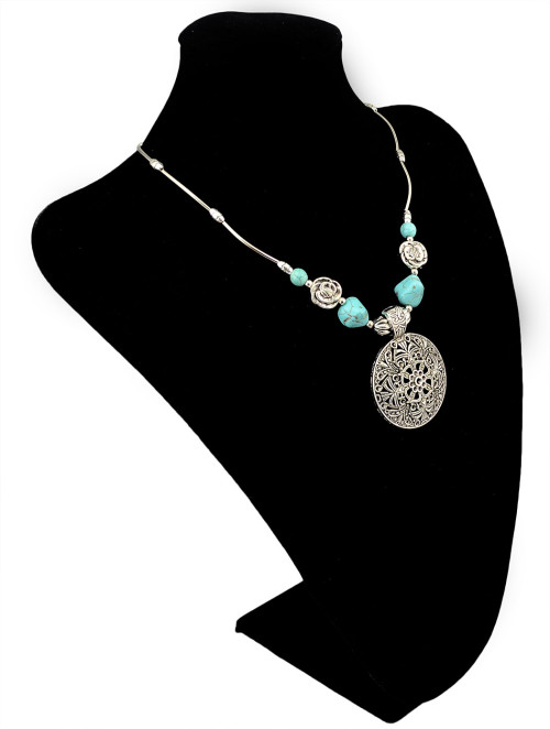 N-5915 New Fashion Silver Plated Charms Bib Statement Pendant Necklaces for Women