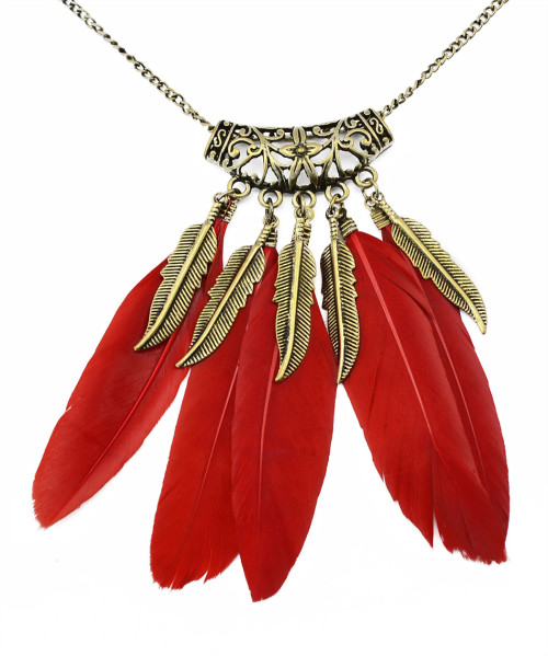 N-5920  2015 Hot Sale Bohemian Black Feathers Charms Pendants Long Necklaces Women's Sweater Necklace Jewelry