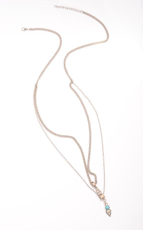 N-5943  New Fashion European Style Silver Plated Natural Turquoise Bikini Sexy Waist Chain Body Jewelry