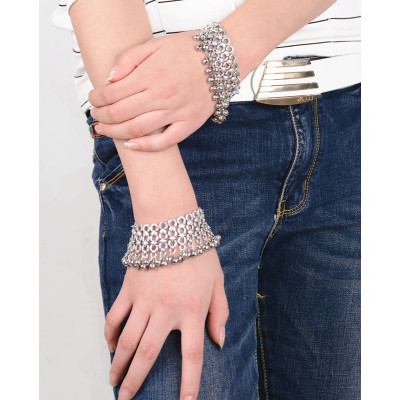 B-0648  New fashion silver plated bell bead bracelet  for women jewelry