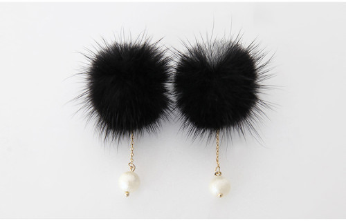 E-3650  new fashion feather warm  pearl dorp Earring for women jewelry
