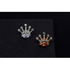 P-0227 Fashion Unique Charm Rhinestones Silver & Gold  Plated  Crown Shape Brooch Buckle For Women Men  Accessories