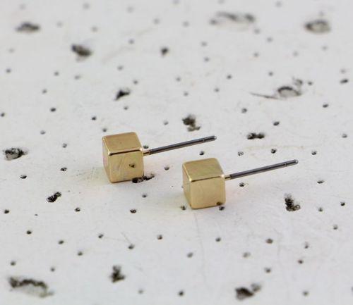 E-3671  Korea style gold geometry cute lovely ear stud earrings