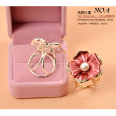 R-1316  New Fashion Casual Gold Alloy Silk scarf buckle for Women