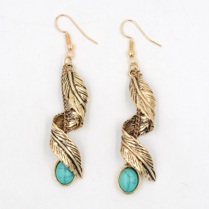 E-3685  Vintage Silver Gold Plated Earrings for Women New Charming Ethnic Jewelry Dangle Earrings