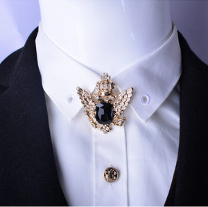 P-0305  Fashion Unique style Rhinestones Silver & Gold  Plated  Crown Shape Brooch Buckle Accessories