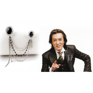 P-0303  Vintage Silver Brooch Men Personality collar brooches Fashion Jewelry Accessories Bijoux