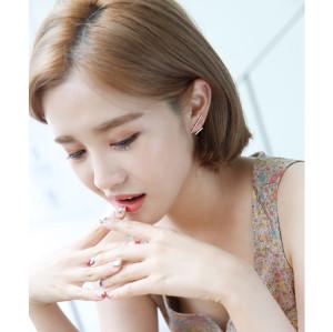 E-3688  Korea Style Silver/Gold Cute Lovely Ear Stud Earrings
