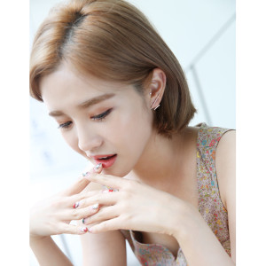 E-3688  Korea Style Silver/Gold Cute Lovely Ear Stud Earrings