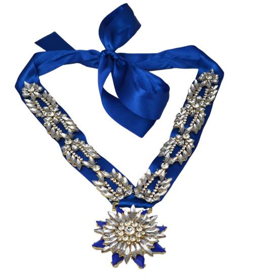 N-6043  European style red blue black ribbon & silk chain rainbow crystal leaves flower inlay false choker bib statement necklace fashion luxury jewelry
