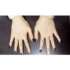 R-1323  7Pcs/set Bohemian Style Vintage Silver/Gold Plated Elephant Arrow Triangle Moon Shape Nail Midi Rings for Women Jewelry