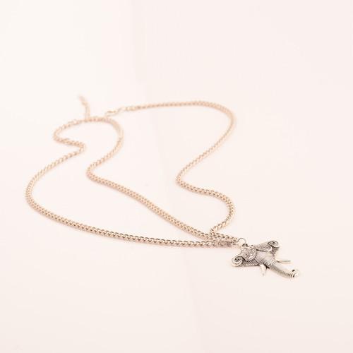 F-0306  European Style Silver Head Chain Cool Metal Elephant Pendant Headband Hair Jewelry