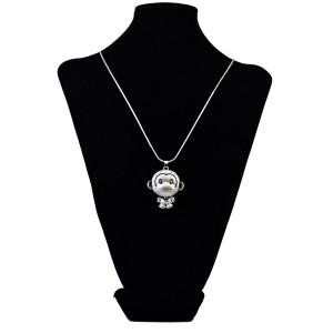 N-6051  Ethnic Indian Style Gold Silver Plated Snake Chain Rhinestone Money Pendant Necklace For Women