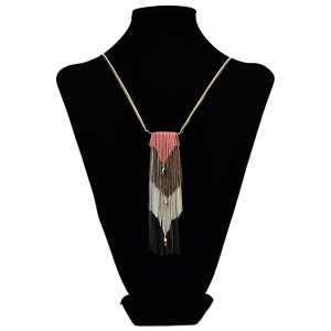 N-6065 Punk style alloy plated long tassel chain rhinestone fashion pendant necklace jewelry