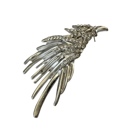 P-0311 Fashion retro style silver plated flying Phoenix shape brooch pin
