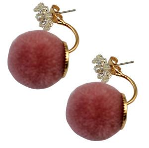 E-3709  New 2016 unique design statement fashion  ball plush stud earrings for women jewelry