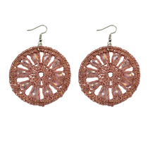 E-3705  New Fashion Women Earrings  Charm pink big Round Earrings for Women Accessories