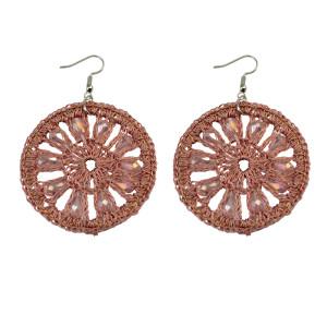 E-3705  New Fashion Women Earrings  Charm pink big Round Earrings for Women Accessories
