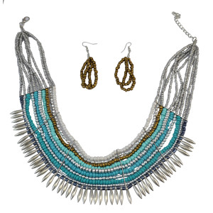 N-5886 Bohemian Style Fashion Jewelry Multi Layered Seed Beads Necklaces Pendants For Women Collares Choker Necklace