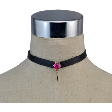 N-6093   Unique Design European Fashion Sexy Leather Chokers Necklace 3 Colors choker Necklace for Women Jewelry