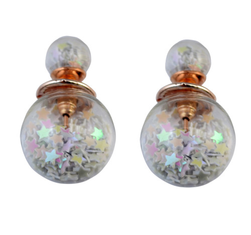 E-3720 Fashion style Glass ball star cute lovely stud earring for Women Jewelry
