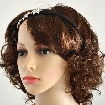 F-0313  New European Jewelry Carved Flower Crystal  Crown Headband Hair Accessory For Women