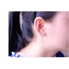 E-3726  Korea Style Fashion Silver Earring Flower Shape Stud Earrings For Women Girls Jewelry