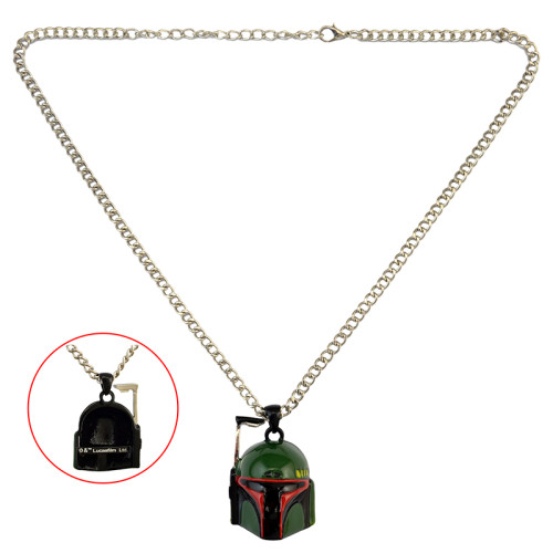 N-6121  2016 hot sell Fashion silver plated alloy star wars HELMET mask PENDANT necklace jewelry