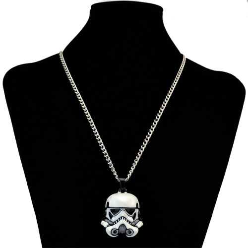 N-6118  New Fashion Silver Plated Alloy Star Wars Mask Pendant Necklace Jewelry
