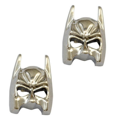 E-3730  Europe and the United States Fashion Film Batman Mask Earring Silver Plated Ear Stud Earrings For Women Jewelry