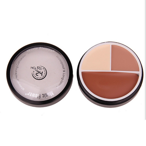 M-0017 3 Colors Fashion Sunscreen Whitening Oil Control Pressed Powder Makeup Waterproof 40g