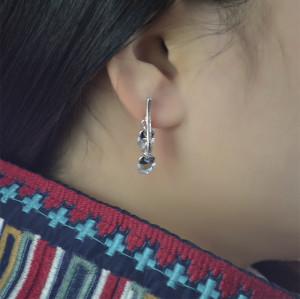 E-3737 New Fashion Silver Gold Plated Rhinestone Crystal Heart Drop Earrings For Women Jewelry