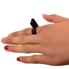 R-1346  New Fashion Black Stainless Steel Comics  Ring Christmas Holloween gifts